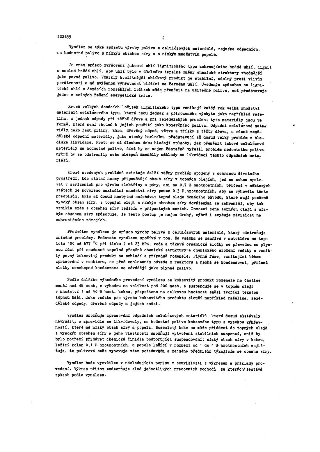 Zpusob Vyroby Paliva Z Celulozovych Materialu 15 09 1985 222655