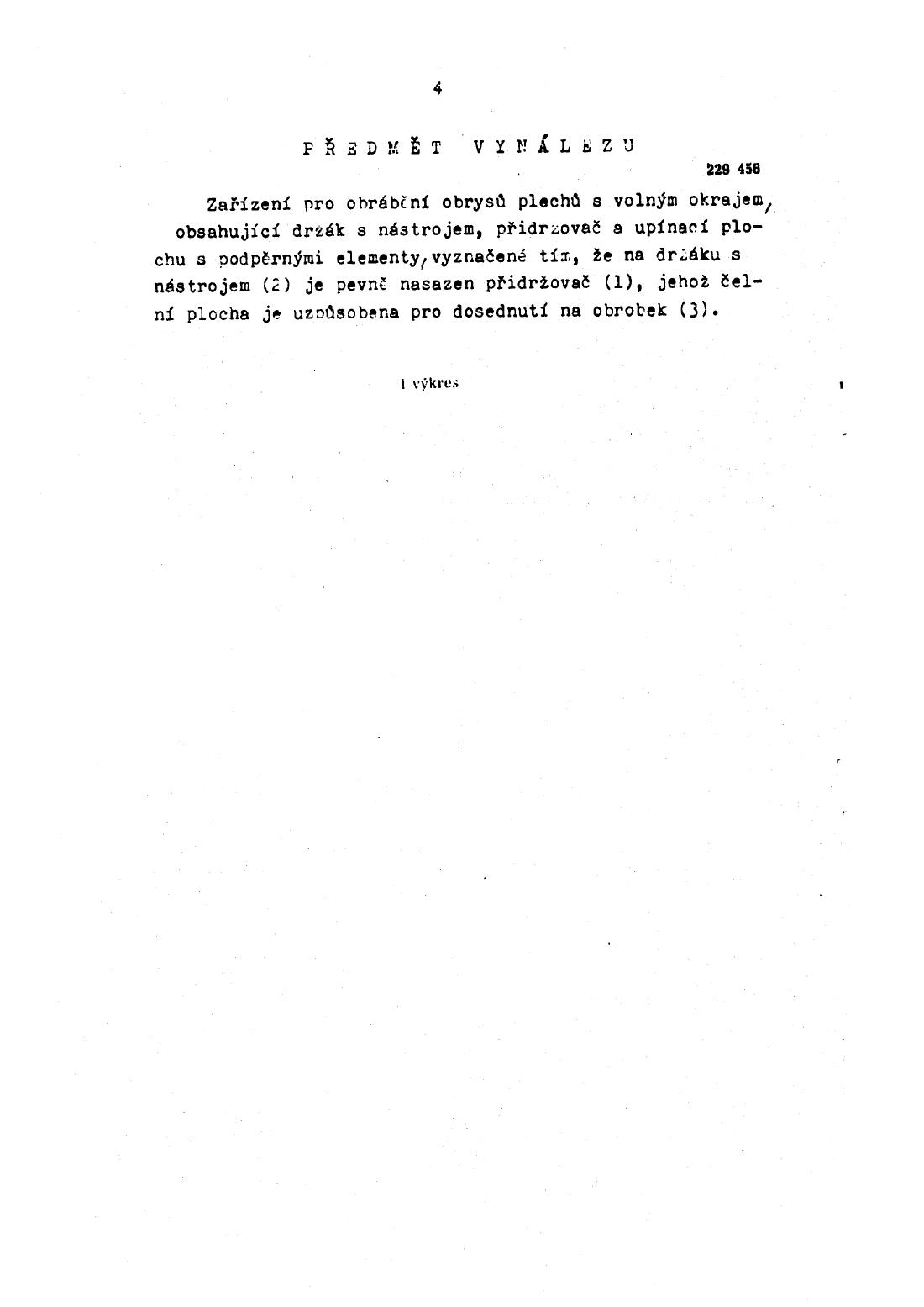 Zarizeni Pro Obrabeni Obrysu Plechu S Volnym Okrajem 01 03 1986
