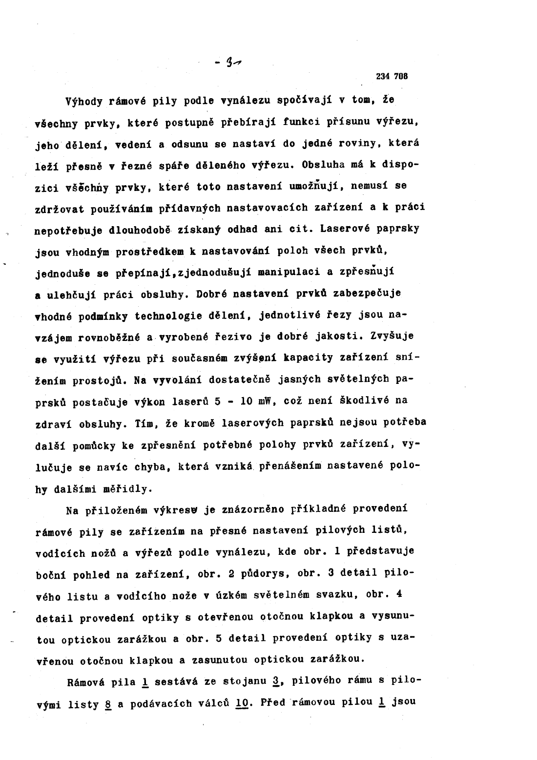 Ramova Pila Se Zarizenim Na Presne Nastaveni Pilovych Listu