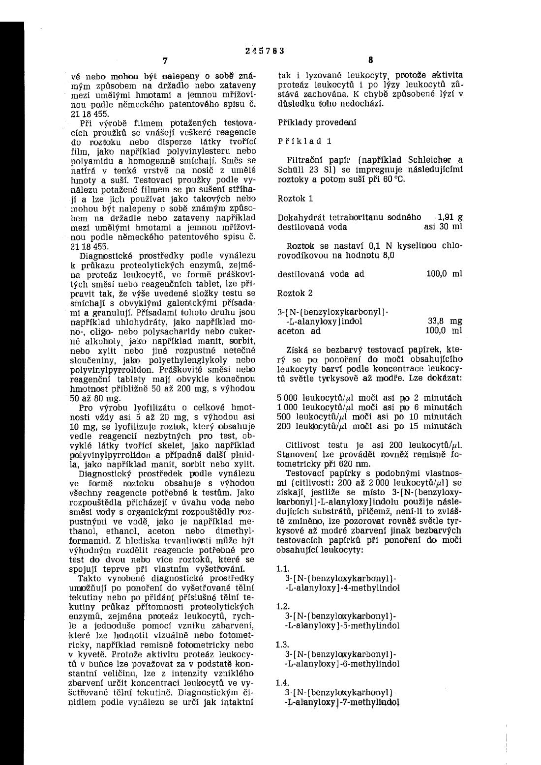 Prostredek K Prukazu Proteolytickych Enzymu 16 01 1986 245763