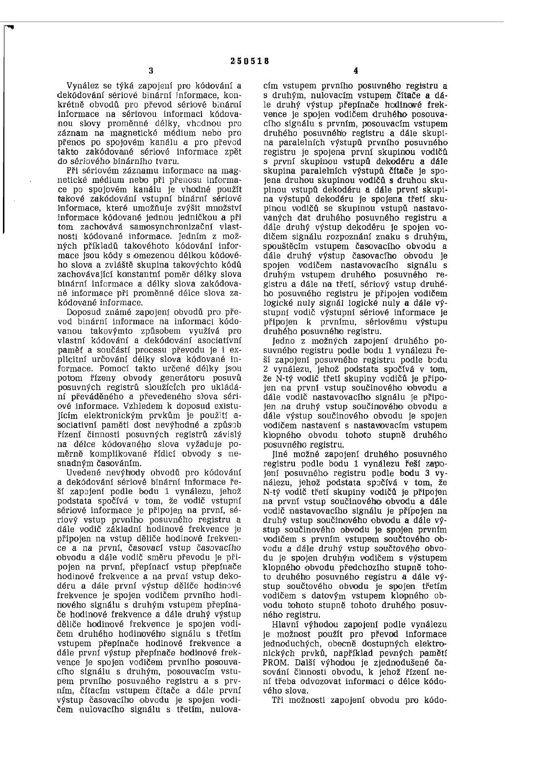 Zapojení pro kódování a dekódování sériové binární informace — 15.04.1987 —  250518 — Databáza patentov Slovenska bfda88cdf2d