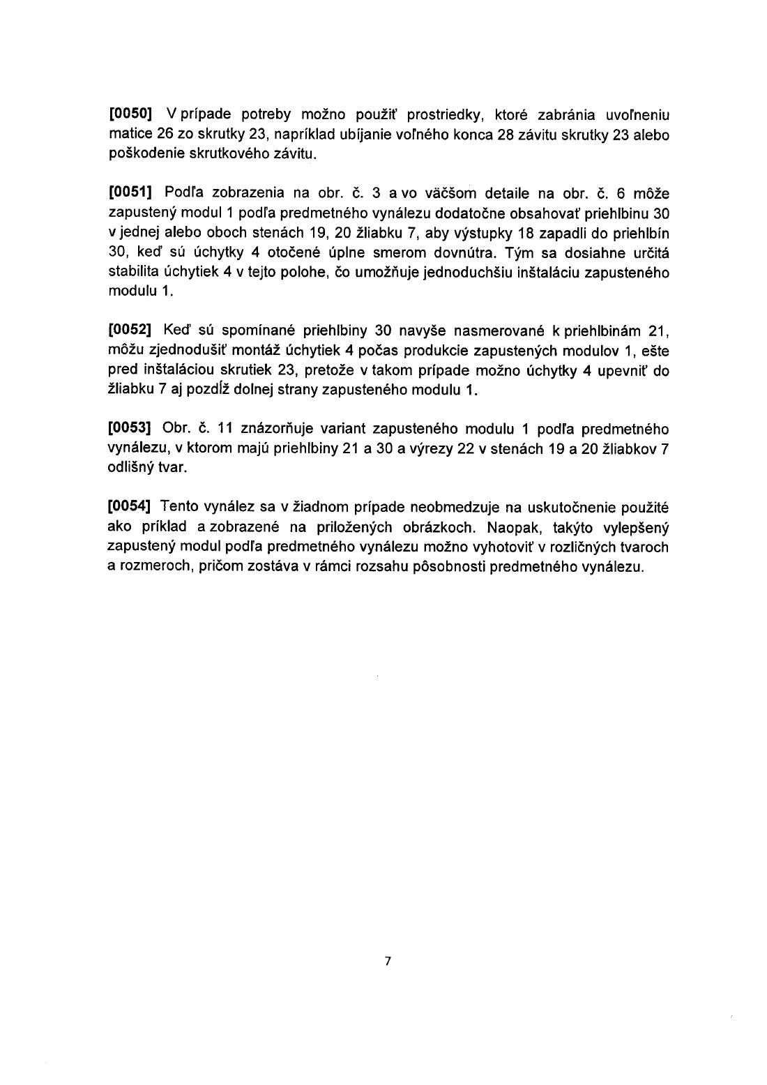 d84daa54580a1 Vylepšený zapustený modul — 08.03.2006 — E 14622 — Databáza patentov ...